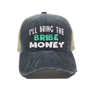 fun-trucker-hats - I'll Bring The Bribe Money -