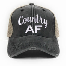 Load image into Gallery viewer, fun-trucker-hats - Country AF -