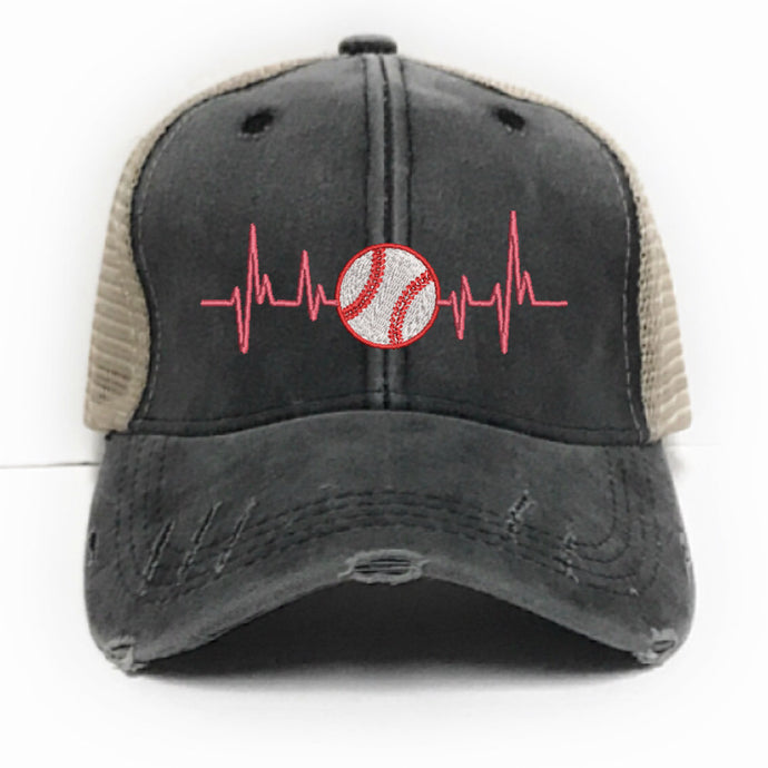 fun-trucker-hats - Baseball Heartbeats -