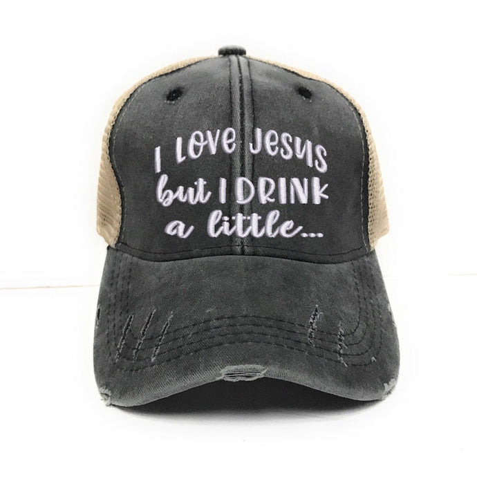 fun-trucker-hats - I Love Jesus -