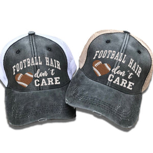 fun-trucker-hats - Football Hair Don't Care -