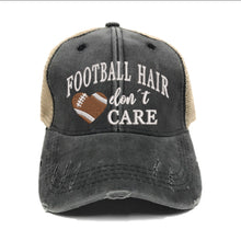 Load image into Gallery viewer, fun-trucker-hats - Football Hair Don't Care -