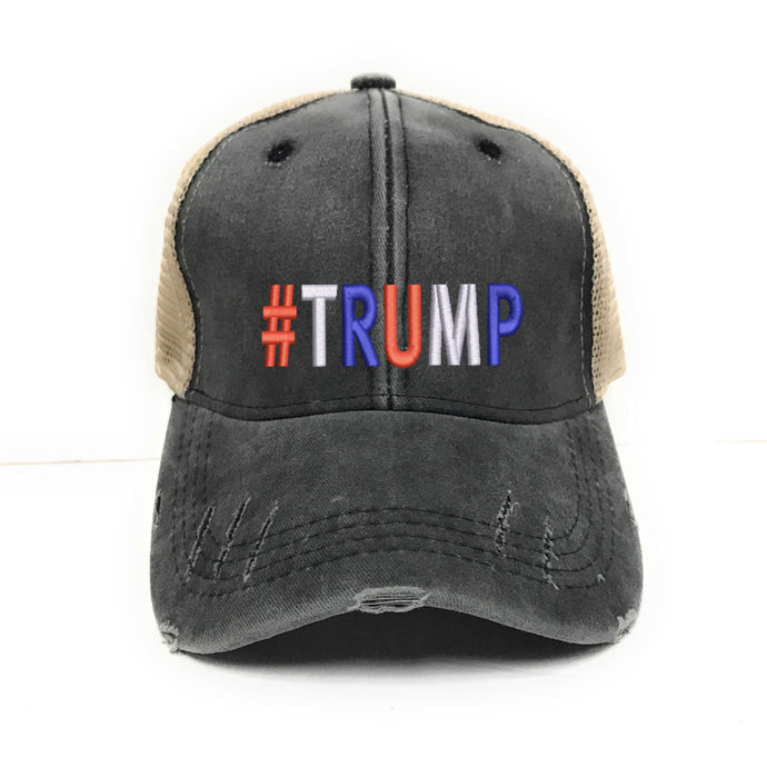 fun-trucker-hats - Trump Hat - 2020 - Keep America Great Embroidered Baseball Cap