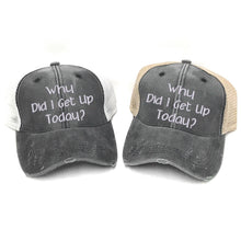 Load image into Gallery viewer, fun-trucker-hats - Why Did I Get Up Today? -