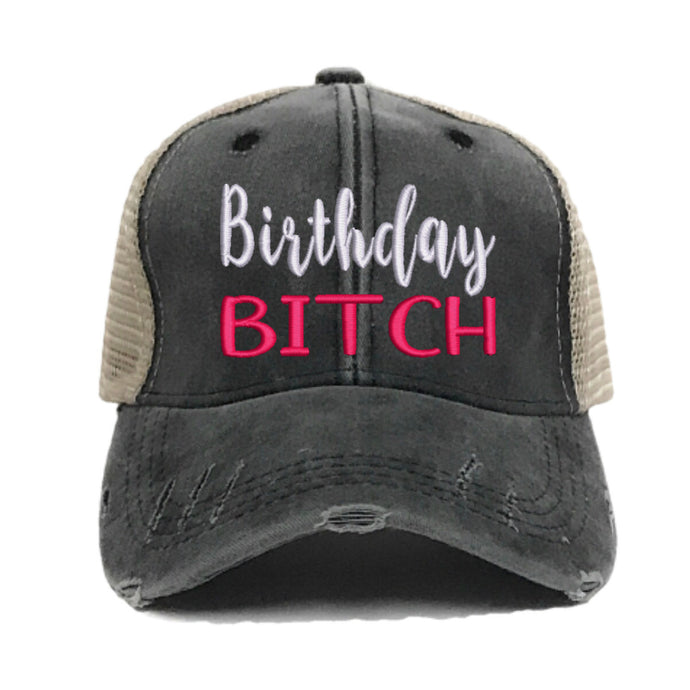 fun-trucker-hats - Birthday Bitch -
