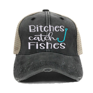 fun-trucker-hats - Bitches Catch Fishes -
