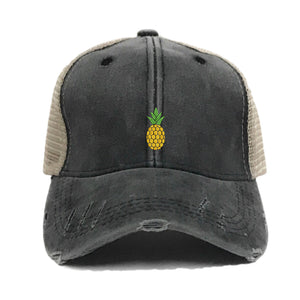 fun-trucker-hats - Mini Pineapple - Trucker Hat