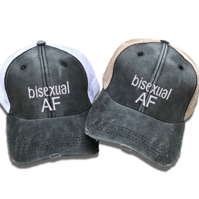 fun-trucker-hats - Bisexual AF - Trucker Hat