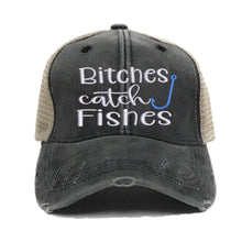 Load image into Gallery viewer, fun-trucker-hats - Bitches Catch Fishes -