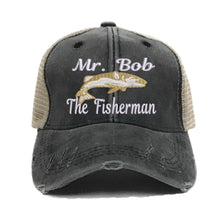 "Load image into Gallery viewer, fun-trucker-hats - ""Your Name"" The Fisherman - Trucker Hat"