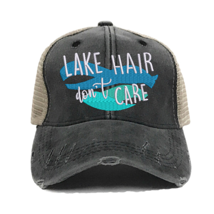 fun-trucker-hats - Lake Hair Don't Care -