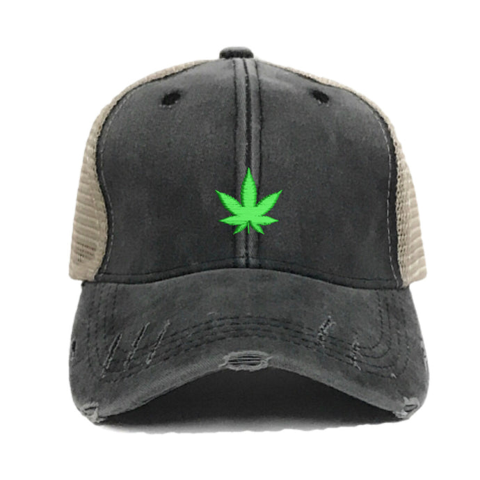 fun-trucker-hats - Mini Pot Leaf -