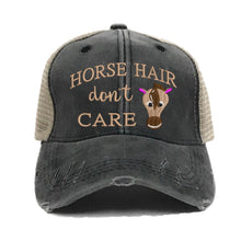 Load image into Gallery viewer, fun-trucker-hats - Horse Hair Don't Care -