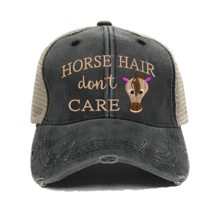 fun-trucker-hats - Horse Hair Don't Care -