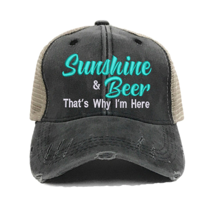 fun-trucker-hats - Sunshine & Beer - Trucker Hat
