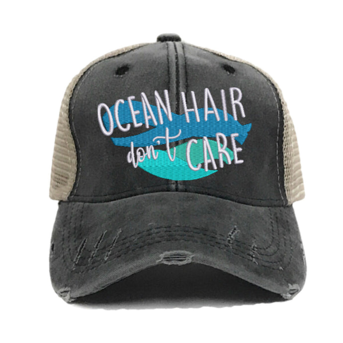 fun-trucker-hats - Ocean Hair Don't Care -