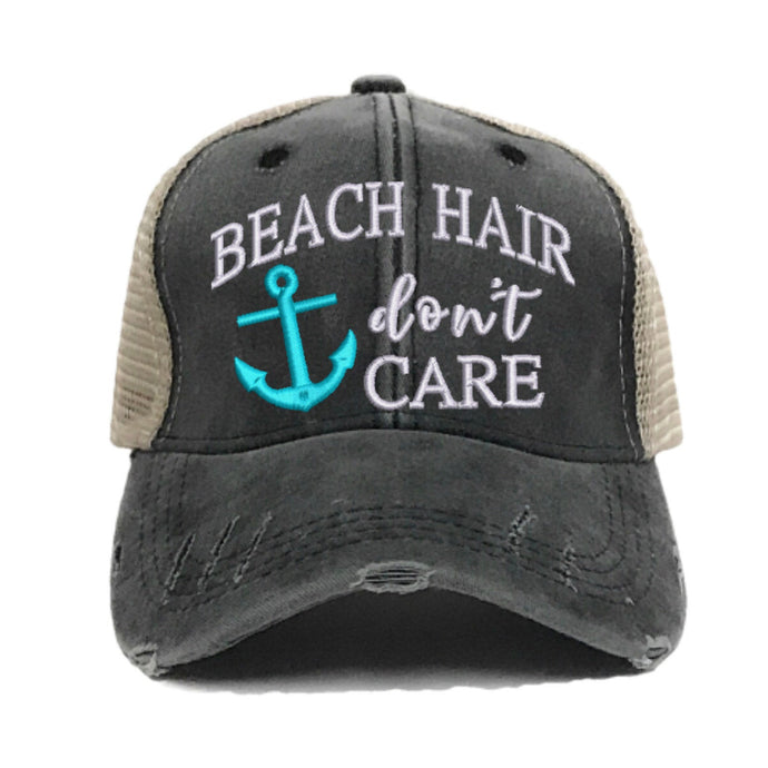 fun-trucker-hats - Beach Hair Don't Care -