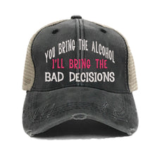 Load image into Gallery viewer, fun-trucker-hats - Bring The Alcohol Bad Decisions - Trucker Hat