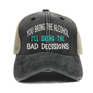 fun-trucker-hats - Bring The Alcohol Bad Decisions - Trucker Hat
