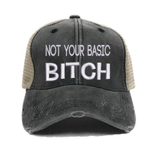 Load image into Gallery viewer, fun-trucker-hats - Not Your Basic Bitch - Trucker Hat