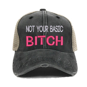 fun-trucker-hats - Not Your Basic Bitch - Trucker Hat