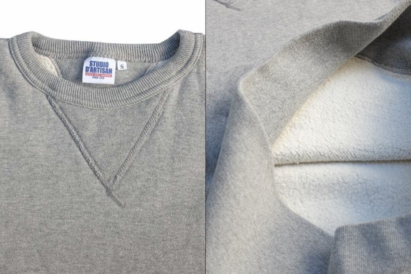 SDA's Classic Heavyweight Sinker Weave Sweatshirt, which was the base garment for this project