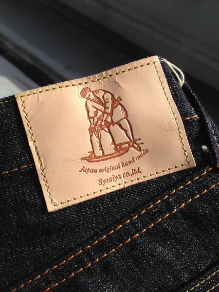 The New Lambskin Waistband Leather Patches By Pure Blue Japan, Featuring A  Shokunin (Artisan) Dipping Jeans Into A Vat Of Indigo Dye.