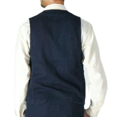 Japan Blue Indigo Sashiko Hunting Vest