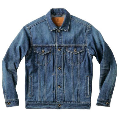 Japan Blue 13.5oz Côte d'lvoire Distressed Selvedge Denim Jacket