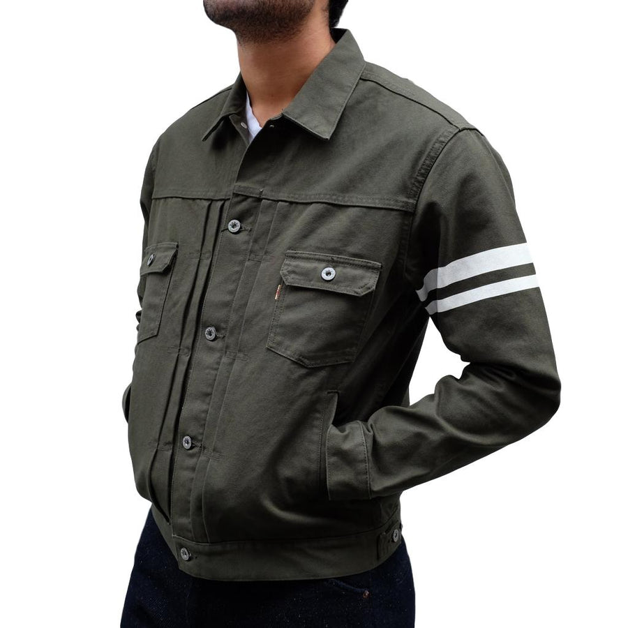 Momotaro 2nd Type GTB Canvas Jacket (Olive)