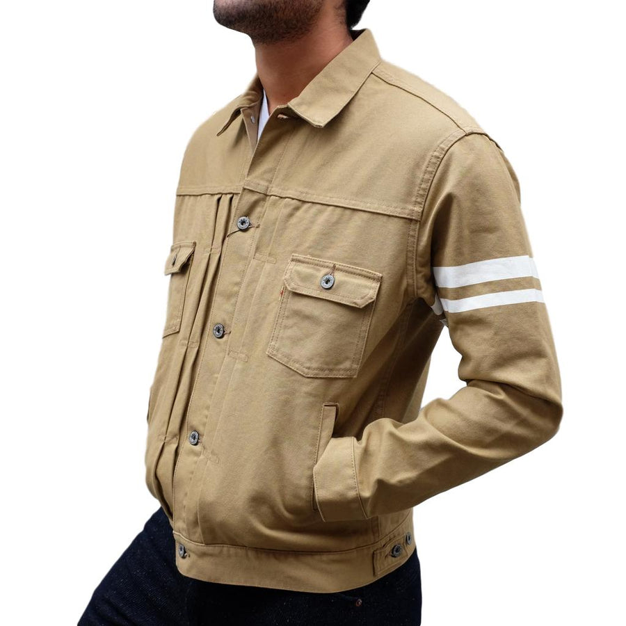 Momotaro 2nd Type GTB Canvas Jacket (Beige)