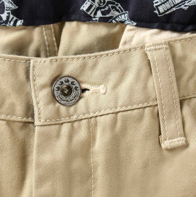 Momotaro High Count West Point Work Pants (Khaki) - Okayama Denim Pants - Selvedge