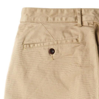 Japan Blue Combed Yarn City Trousers (Beige) - Okayama Denim Pants - Selvedge