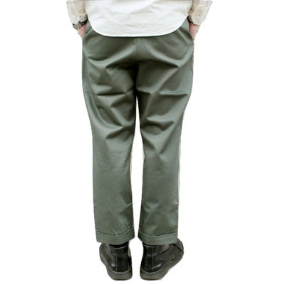 Japan Blue JB4300 Liberty Pegtop Classic Chino Pants (Olive) - Okayama Denim Pants - Selvedge