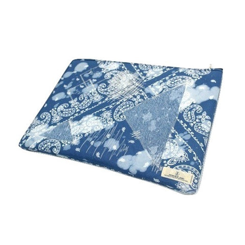 Japan Blue Indigo Patchwork Clutch
