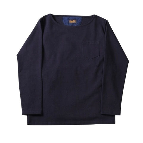 Japan Blue 18 Gauge Super Heavy Inlay Sweat LS Tee (Navy)