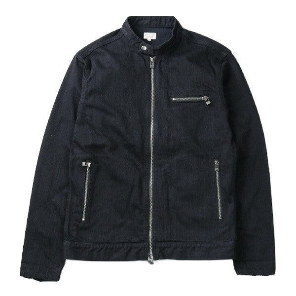 Japan Blue Single Rider's Black x Black Denim Jacket - Okayama Denim Jacket - Selvedge