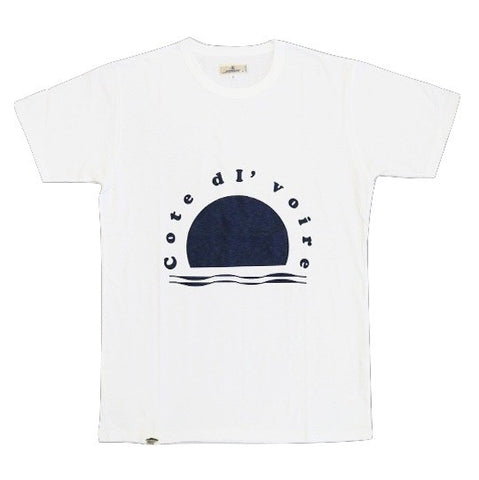 Japan Blue Côte d'Ivoire Cotton Logo Tee