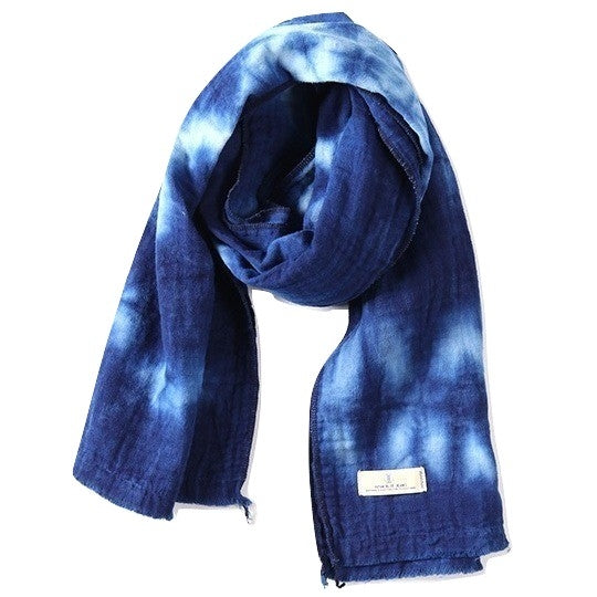 "Japan Blue Quadruple Gauze ""Murazome"" Indigo Scarf"