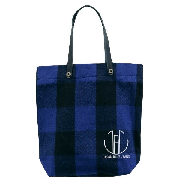Japan Blue Melton Wool Tote Bag