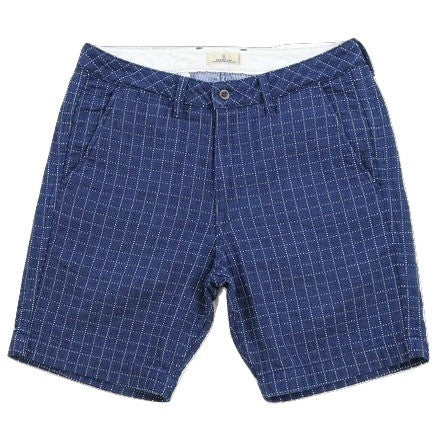 Japan Blue JB5100 Indigo Sashiko Check Shorts