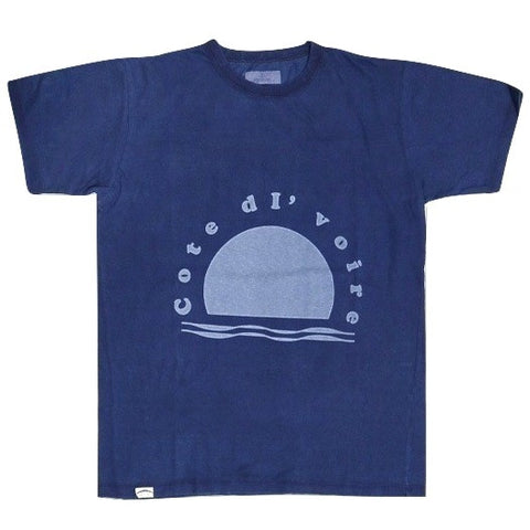 Japan Blue Indigo Dyed Côte d'Ivoire Cotton Logo Tee