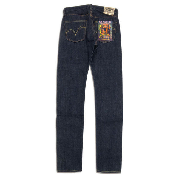"[Pre-Order] Samurai Jeans S511SJC-AI 19oz. Original Cotton Made ""Tenkafubu"" Natural Indigo Selvedge Denim Jeans (Slim Tapered)"