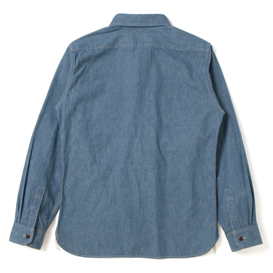 "Studio D'Artisan ""Old West"" Chambray Work Shirt - Okayama Denim Shirt - Selvedge"