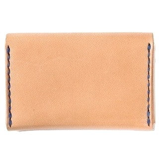 Japan Blue Leather Card Case (Natural) - Okayama Denim Accessories - Selvedge