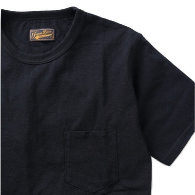 Japan Blue Côte d'Ivoire Cotton Pocket Tee (Black) - Okayama Denim T-Shirts - Selvedge