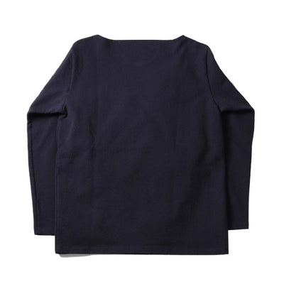 Japan Blue 18 Gauge Super Heavy Inlay Sweat LS Tee (Navy) - Okayama Denim T-Shirts - Selvedge