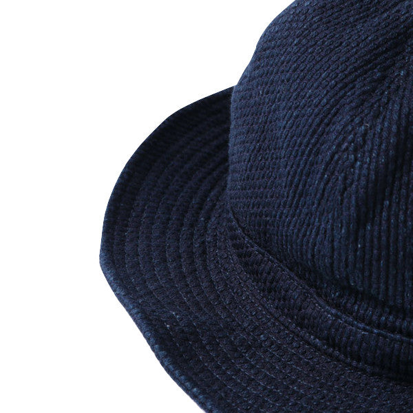 Japan Blue Indigo Sashiko Mountain Hat - Okayama Denim Accessories - Selvedge