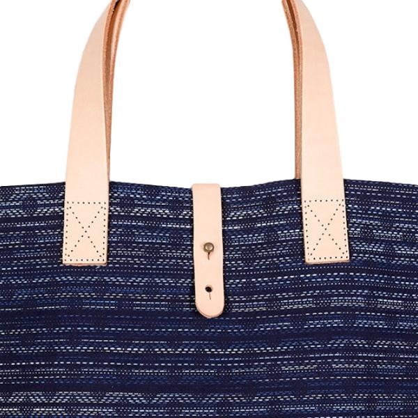 Japan Blue Kasuri Indigo Dyed Tote Bag
