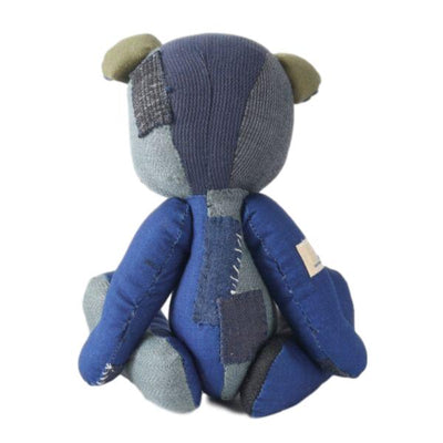 Japan Blue Indigo Patchwork Teddy Bear - Okayama Denim Accessories - Selvedge